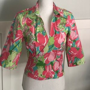 🌺Lily Pulitzer wrap top🌺
